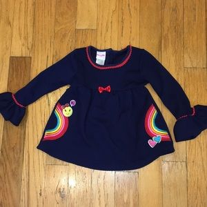 Nanette Kids Size 6 Rainbow Embroidered Tunic